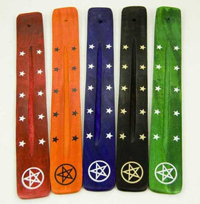 Spirit Earth Flat Coloured Pentagram Incense Holder