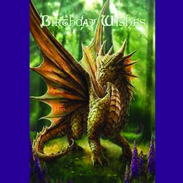 Spirit Earth Friendly Dragon Greeting Card