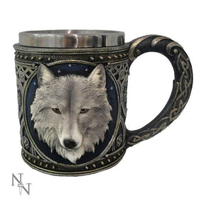 Spirit Earth Ghost Wolf Tankard Small