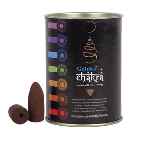 Spirit Earth Goloka Backflow Incense Cones - Chakra