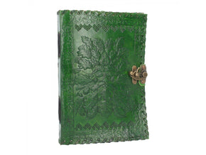 Spirit Earth Greenman Leather Journal - Lock
