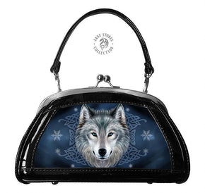 Spirit Earth Handbag Anne Stokes 3D Evening Bags - Wolf Spirit