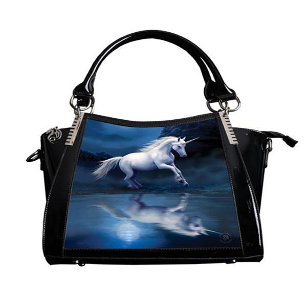 Spirit Earth Handbag Anne Stokes 3D Hand bag - Moonlight Unicorn