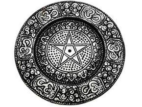 Spirit Earth Metal Pentagram Plate