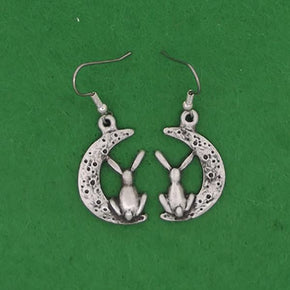 Spirit Earth Moon Gazing Hare Earings