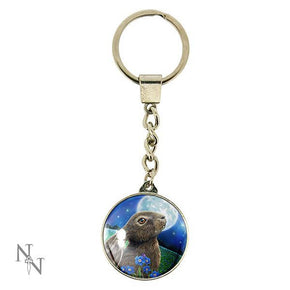 Spirit Earth Moon Gazing Hare Keyring