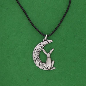 Spirit Earth Moon Gazing Hare Pendant