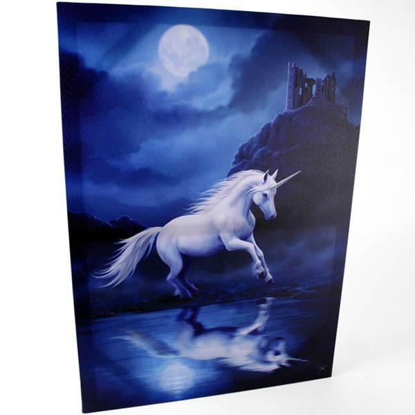 Spirit Earth Moonlit Unicorn Canvas