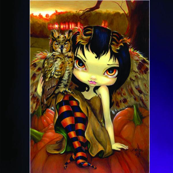 Spirit Earth Owlyn in Autumn Greeting Card