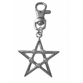 Spirit Earth Pentagram Keyring
