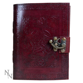 Spirit Earth Pentagram Leather Journal - Lock