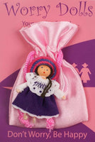 Spirit Earth Purple Worry Doll