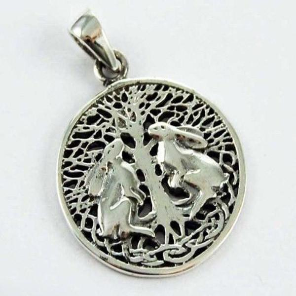 Spirit Earth Silver Moon Gazing Hares - Lisa Parker