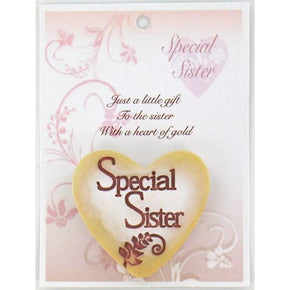 Spirit Earth Small Love Heart - Special Sister