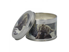 Spirit Earth Snow Kisses Tin Candle