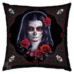 Spirit Earth Sugar Skull Silk Cushion (JR)