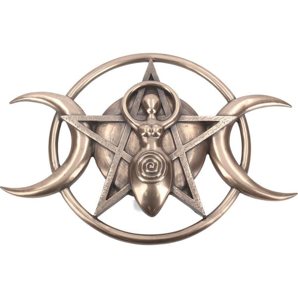 Spirit Earth Triple Moon Goddess Plaque