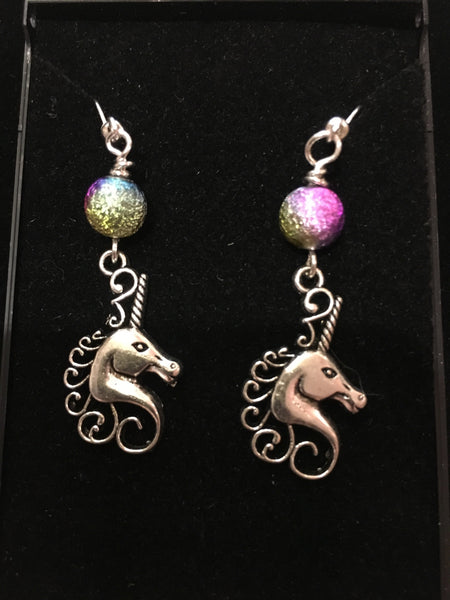Spirit Earth Unicorn with Rainbow Earings