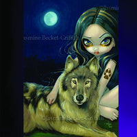 Spirit Earth Wolf Moon Greeting Card
