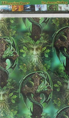 Spirit Earth Woodland Guardian Wrapping Paper