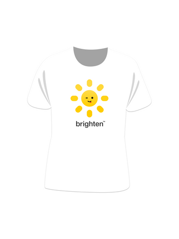 Brighten Short Sleeve White Tee