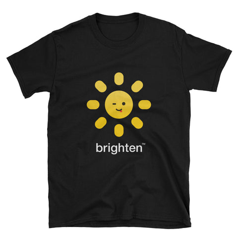 Brighten Short Sleeve Black Tee