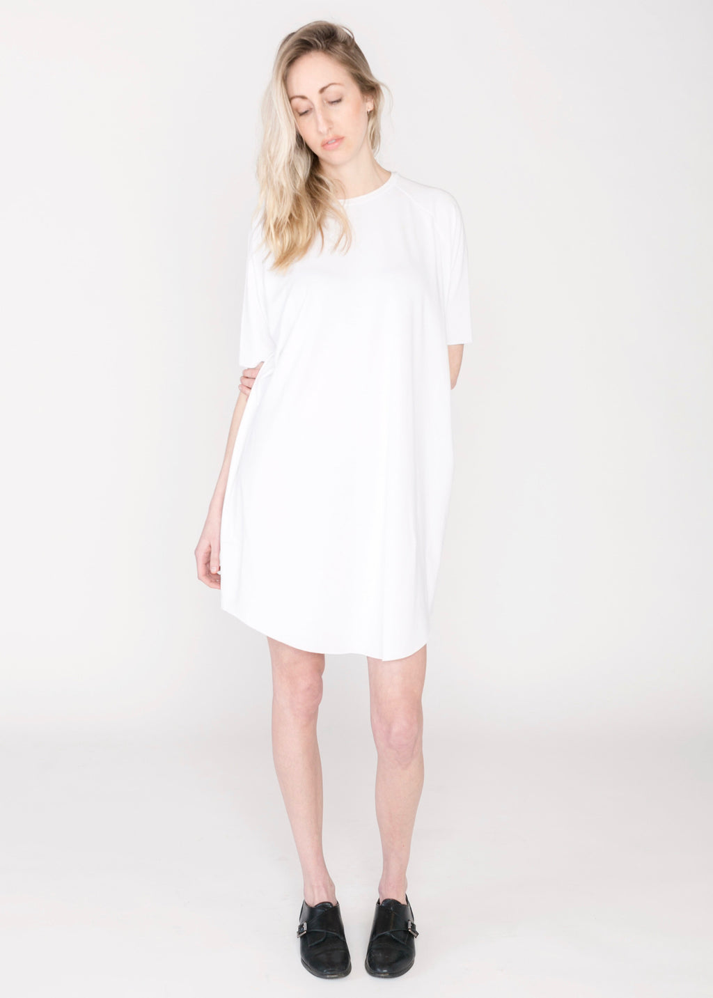 Short-Sleeved Raglan Dress