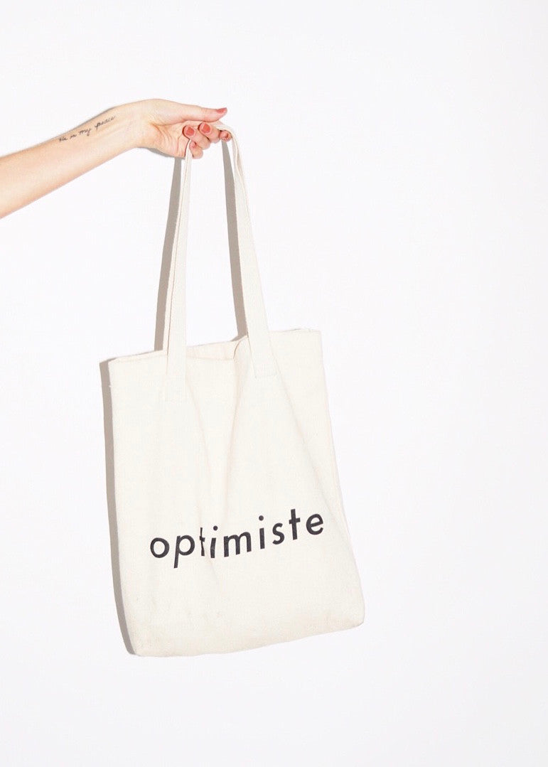 OPTIMISTE Bull Denim Tote