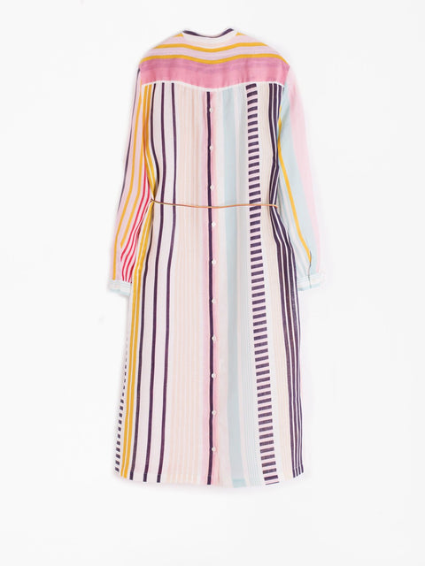 BIANCA LINEN STRIPE DRESS