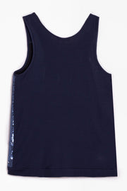 CONSTANCE SEQUIN TANK, NAVY OR ECRU
