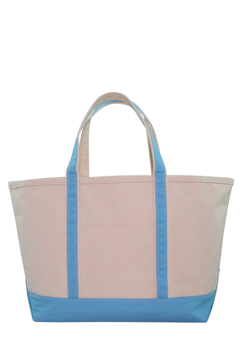 Boat Tote Monogram Goods  Baby Blue