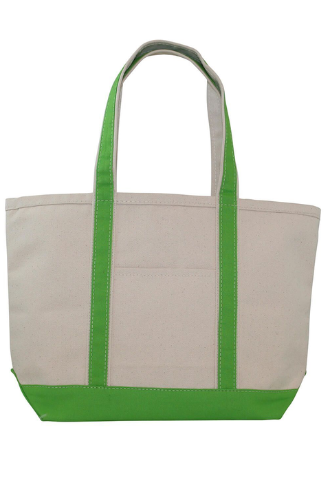 Boat Tote Monogram Goods Lime Green