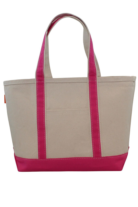 Boat Tote Monogram Goods  Hot Pink