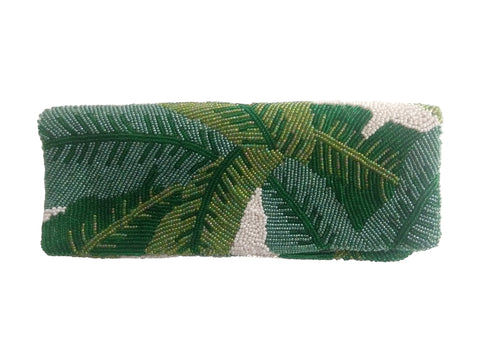 Palm Leaf Bead Clutch