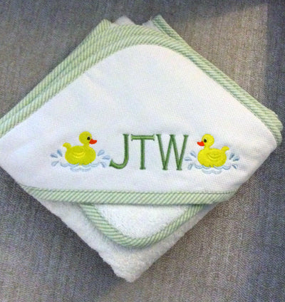 Pique Hooded Towel & Washcloth Set