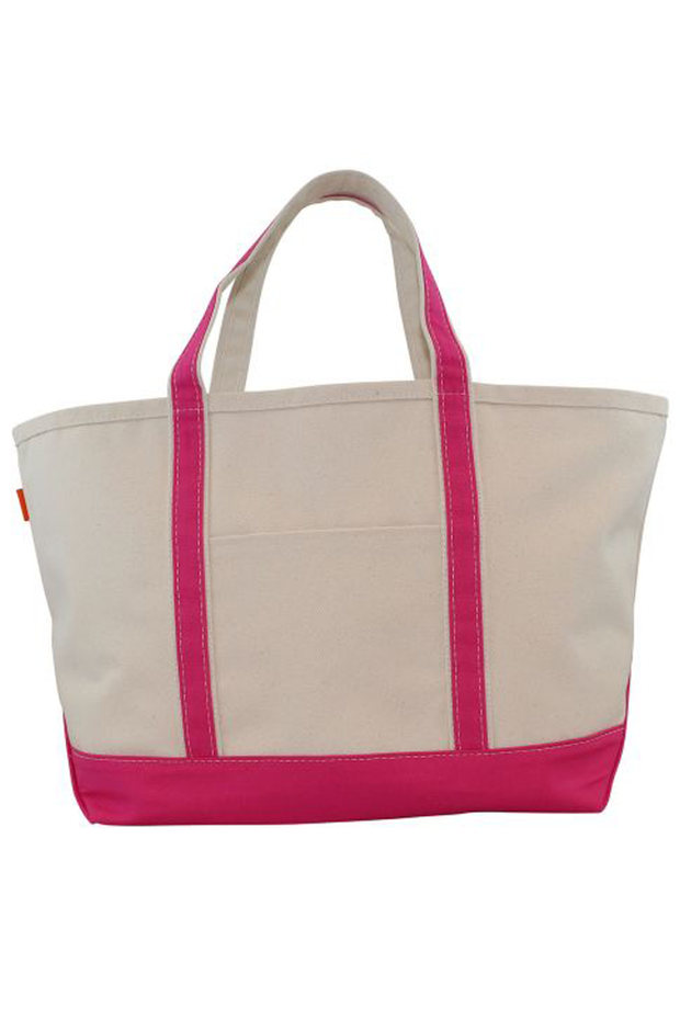 Monogram Goods Boat Tote Hot Pink