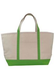 Monogram Goods Boat Tote Lime Green Front