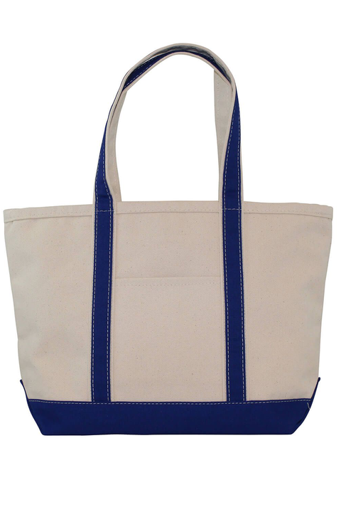 Boat Tote Monogram Goods Royal Blue
