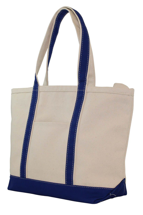 Boat Tote Monogram Goods Royal Blue Front