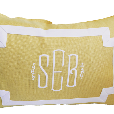 Avery Pillow Lumbar Monogram Goods Yellow