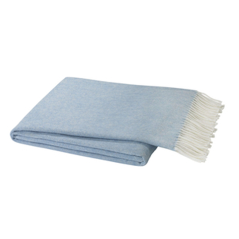 Blue Denim Italian Herringbone Throw