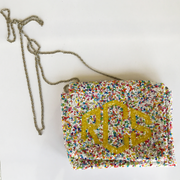 confetti bead box purse monogram goods