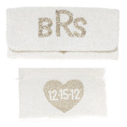 Bridal Beaded Clutch Monogram Goods