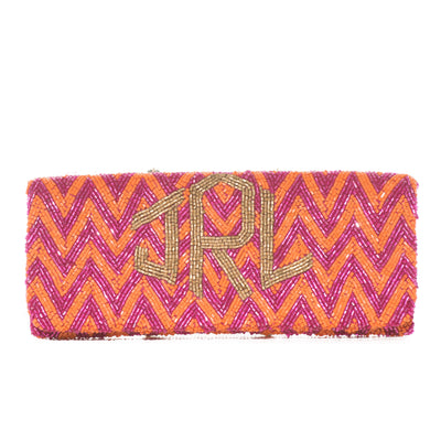 Multi-Colored Chevron Bead Clutch