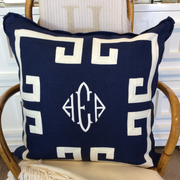 Fretwork Linen Pillow