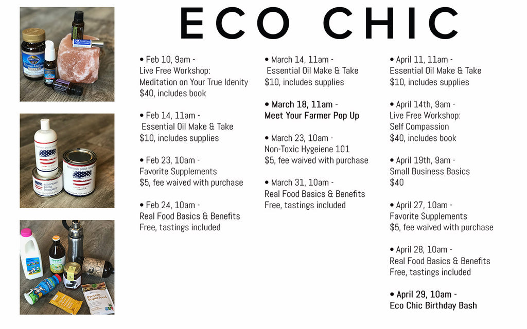 Events at Eco Chic Vacaville
