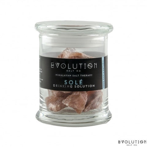 Evolution Salt Co. SOLE DRINKING SOLUTION GLASS JAR & CRYSTALS