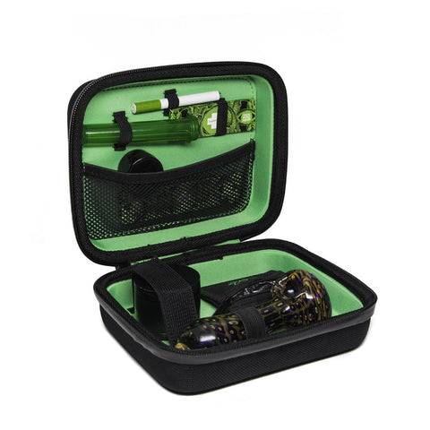 Happy Kit MJ Marijuana Smoke Cannabis Stash Case Green
