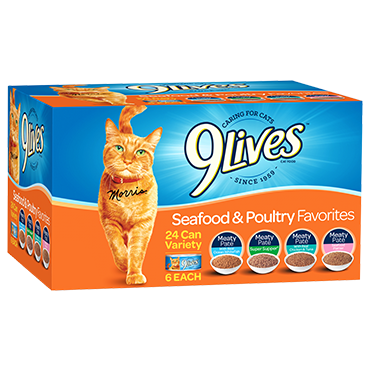 9 LIVES SEAFOOD & POULTRY FAVORITES CAT FOOD VARIETY PACK