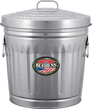 GALVANIZED STEEL TRASH/UTILITY CAN